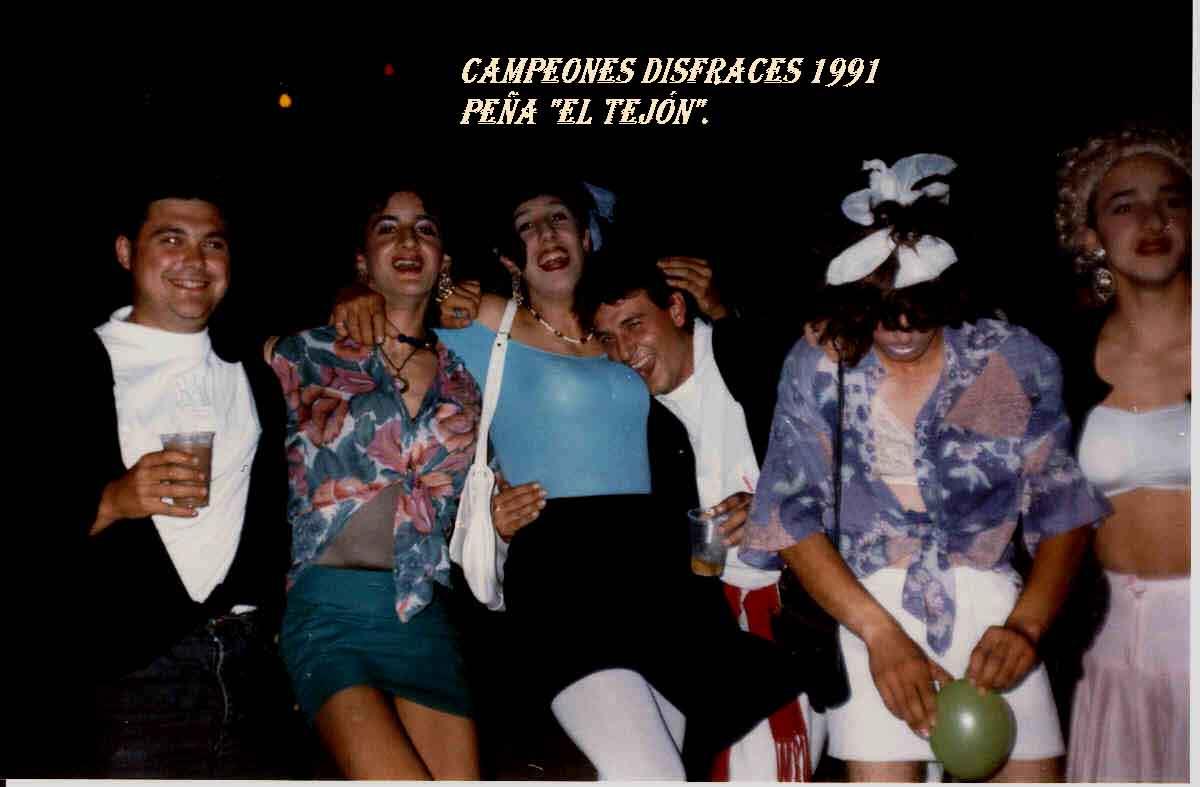 Campeones disfraces 1991. Peña EL TEJÓN