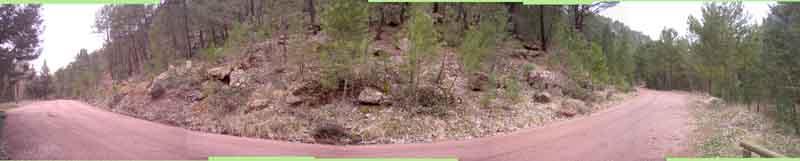 El camino del Vivero, a la altura de la Fuente del Cura, visto en una composición de Carlos Lopesino. Pincha para ampliarlo