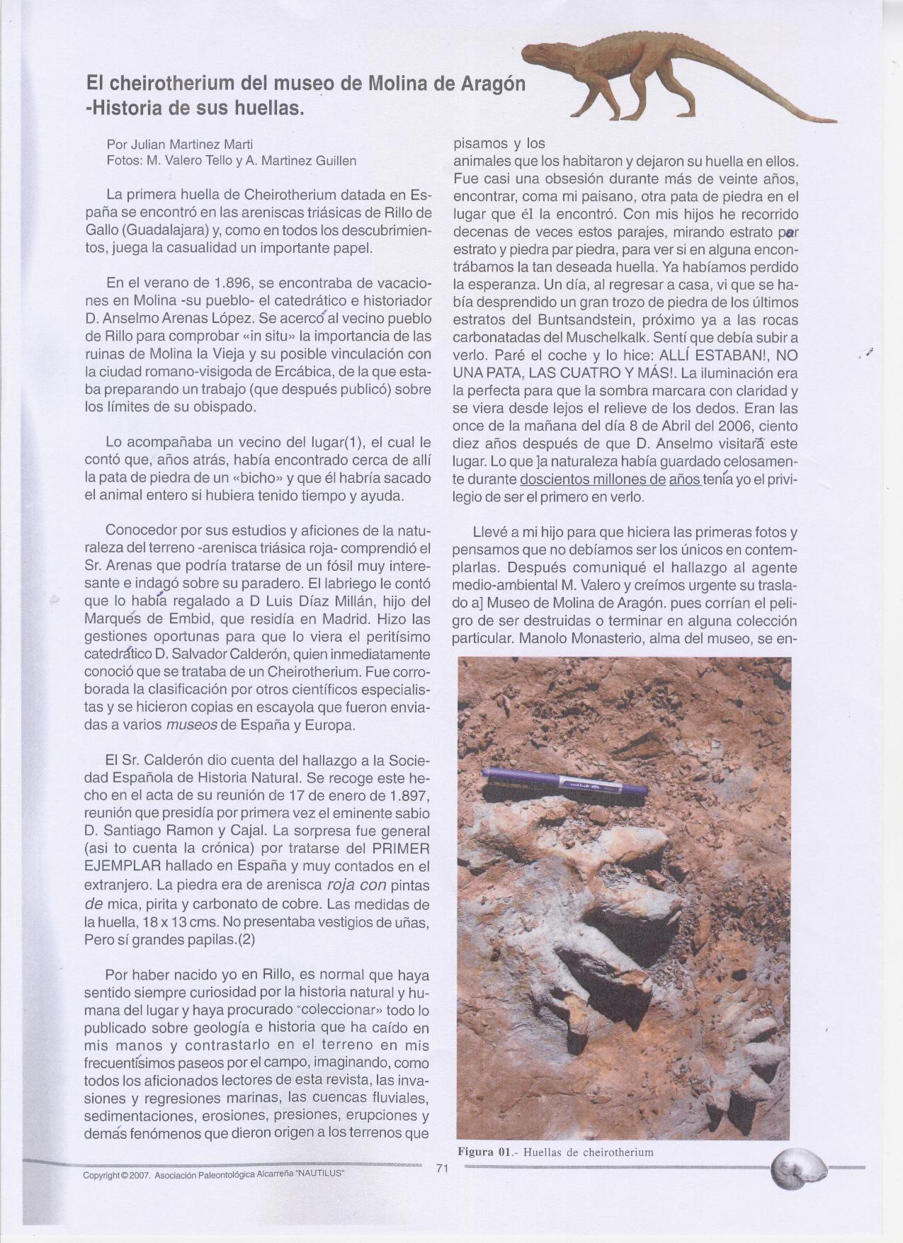 Nautilus. Revista de Divulgación Paleontológica. Diciembre 2007