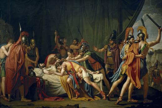 La muerte de Viriato, jefe de los lusitanos, de José de Madrazo, Museo del Prado.